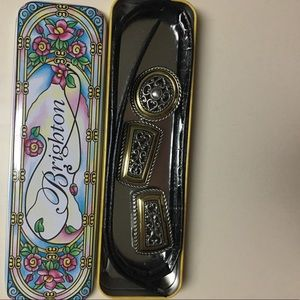 BRIGHTON CROC EMBOSSED BELT WITH BUCKLE. LIKE NEW